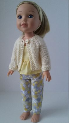 Check out this item in my Etsy shop https://www.etsy.com/ca/listing/476406385/145-doll-clothes-yellow-sweater-suntop