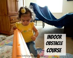 Simple Indoor Obstacle Course. So fun!