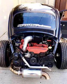 1969 Beetle with a Subaru turbo flat-four . 1969 Beetle with a Subaru Turbo Flat-Four - © COPYRIGHT - T1 Bus, Vw T1, Vw Engine, Engine Swap, Subaru, Vw Rat Rod, Vw Baja Bug, Vw Classic, Beetle Car