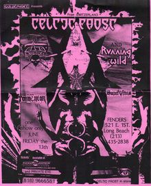 Celtic Frost, Voivod, Running Wild Concert Flyer, Concert Posters, Tour Posters, Band Posters, Black Metal, Heavy Metal, Celtic Frost, Defender Of The Faith, Metal Albums