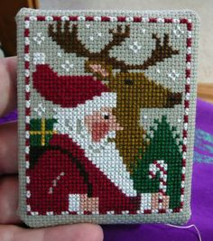 I personally don't think the Just Cross Stitch ornie magazine is very clear with their finishing instructions for 'newbies' so I thought I'd make one up myself to help peopl… Focus on Finishing Cross Stitch Christmas Ornaments, Xmas Cross Stitch, Just Cross Stitch, Cross Stitch Finishing, Cross Stitching, Cross Stitch Embroidery, Embroidery Patterns, Christmas Cross Stitches, Hand Embroidery