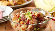 An easy homemade vinaigrette dressing gives this potato salad pleasant tang.