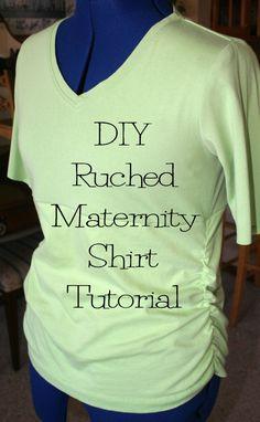 DIY Ruched Maternity Shirt Tutorial