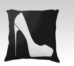 Pillowcase gift for shoe lovers Shoe design by Felicianationink