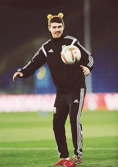 Ramsey in Training with Wales Promoting Children in Need 2013.
