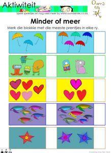 Min of meer aktiwiteit vir graad 1 Preschool Learning Activities, Fun Learning, Classroom Expectations, Math Numbers, Afrikaans, Kids Education, Pre School, Diy For Kids, Homeschool