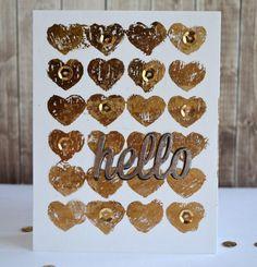 Happy Hellos Die-namics, Hearts Background Stencil - Teri Anderson  #mftstamps