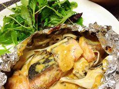 簡単♡鮭ときのこの味噌マヨホイル焼きの画像