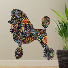 Standard Poodle Dog Decal Wall Sticker