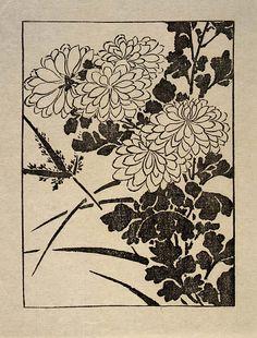 Chrysanthemum by Arthur Wesley Dow, 1902.