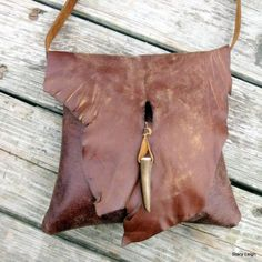 Rustic Distressed Leather Cross Body Bag Stacy Leigh