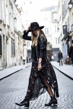 blog mode // Comment porter une robe bohème en automne