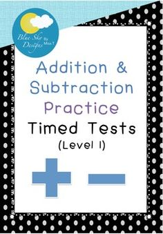 If you are looking for some timed tests to help your students master their addition and subtraction skills that won't use up all of your printing credit, this download is for you! The simplistic design means that it can be used for older primary students, and the fact that it gets more challenging with each worksheet allows you to easily progress your students as they become more confident in their maths skills.