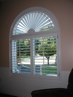 Norman Woodlore Plantation Shutters With Arch Plantation