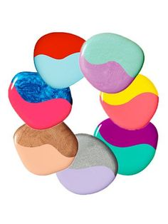 Best Polish Pairs  mani-pedi combos - Summer Nail Polish Trends - Redbook:   1. Red + sky blue  2. Lilac + mint green  3. Coral + citrus  4. Raspberry + teal  5. Lavender + silver  6. Copper + peach  7. Electric blue + pink