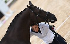 Charlotte Dujardin GBR riding Valegro, during the Horse Inspection of Dressage horse for the Dressage Competition at the Olympic Equestrian Eyestrain Centre in Deodoro near Rio, Brazil on 8th August 2016
