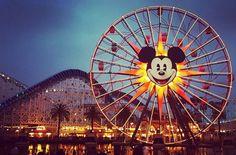 Sunset at Disney Paradise Pier #disneycaliforniaadventure #californiaadventure #sunset #mickey #happy #fun #memories by snceline_smile