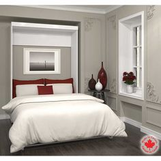 Bestar – Boutique White Double Wall Bed
