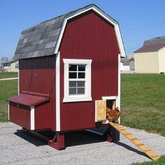 Little Cottage Unpainted Gambrel Barn Chicken Coop - Small