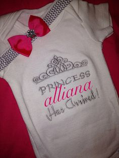 Hey, I found this really awesome Etsy listing at https://www.etsy.com/listing/184123196/personalized-custom-princess-has-arrived