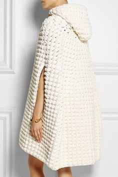 Saint Laurent   Hooded crocheted wool-blend cape   NET-A-PORTER.COM