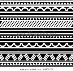 stock vector : Maori / Polynesian Style bracelet tattoo