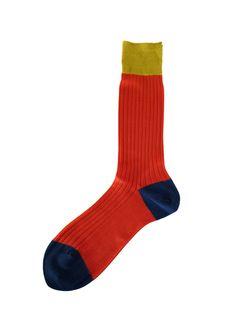 Hh - Mens Socks - Colour Secret *Orange*