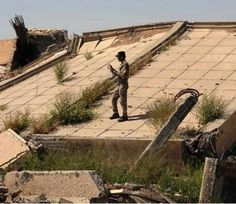 Heavy fighting between ISIS and Iraqi and Shi'ite forces Sunday has nearly destroyed Saddam Hussein's tomb in his hometown of Tikrit, Iraq Iraqi President, Support Columns, Eastern Countries, Saddam Hussein, Weapon Of Mass Destruction, Baghdad, International News, World History, Places To Visit