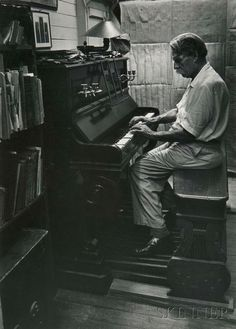 W. Eugene Smith (American, 1918-1978) Dr. Albert Schweitzer Playing an Organ, published in 'A Man of Mercy' in LIFE magazine, 1954. | Lot 178 | Auction 2977B | Estimate:$2,000-3,000