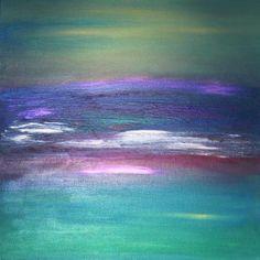 Tracy Evans -Luscious Laguna - Ocean Series -Acrylic on canvas.