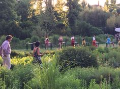 Garden performance with food prepping @passerottilandscapestudio is a magic sound garden in Florence.