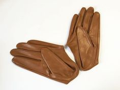 Gloves/Driving/Leather - Tan/Large - Fascinators.net