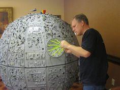 The 5-foot, 200 lb LEGO Deathstar by City Blocks - Tacoma's Brick Art Center