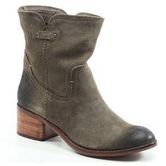 Diba True Shoes West Haven 2 Inch Heels Taupe Vintage Suede Boots ($149) ❤ liked on Polyvore featuring shoes and boots