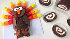 Cute turkey-shaped treats are the perfect Thanksgiving dessert for your holiday party.