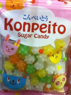 Japanese candy! These remind me of the little star candies that the soot sprites eat in Spirited Away