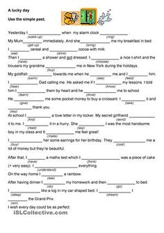Daily actions using the simple past. Complete these texts about a perfect day and a really bad day with irregular verbs. - ESL worksheets