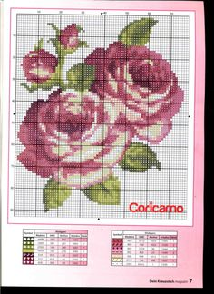 This Pin was discovered by Per Cross Stitch Tree, Modern Cross Stitch, Cross Stitch Flowers, Cross Stitch Charts, Cross Stitch Designs, Cross Stitch Patterns, Rose Embroidery, Hand Embroidery Designs, Cross Stitch Embroidery