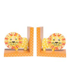 Yellow Painted Wooden Lion Bookends Children's Bedroom / Nursery Book Ends Lion Nursery, Nursery Book, Nursery Decor, Toddler Gifts, Gifts For Kids, Wooden Bookends, Home Library Design, Cute Lion, Elephant Design