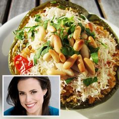 Quinoa Stuffed Pepper: Keri Glassman, one the superstar Women's Health advisors, shared this high-protein and low-cal meal
