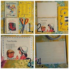great upcycled golden book tutorial