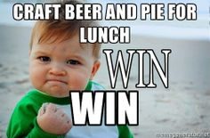 Beer & Pie. Mmm.