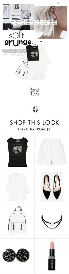 """""""love will tear us apart again"""" by miss-milika ❤ liked on Polyvore featuring River Island, MANGO, New Look and Smashbox"""
