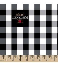 Kentucky Derby Gingham Cotton Fabric