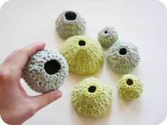 crochet sea urchins : )  by cornflowerbluestudio #handmade