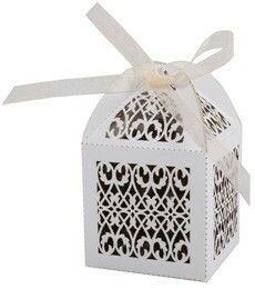 Laser-cut cake/favor box