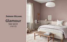 Sherwin-Williams Color of the Month: Glamour SW paint colors sherwin williams February 2020 Color of the Month: Glamour - Sherwin-Williams Pink Paint Colors, Paint Colors For Home, House Colors, Red Paint, Bedroom Wall Colors, Bedroom Decor, Bedroom Ideas Paint, Color Montessori, Guest Room Paint