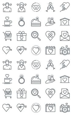 Valentines day icon set. Business Infographic. $8.00