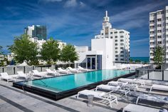 The rooftop pool and terrace at the Gale South Beach & Regent Hotel.