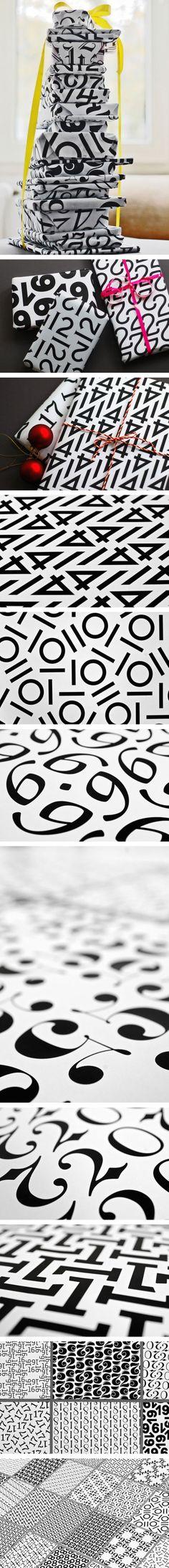Typographic Gift Wrap by Angelo Stitz,